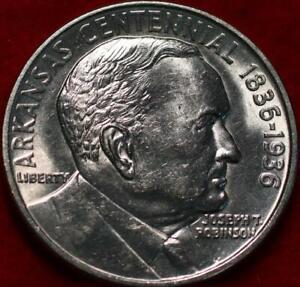 Uncirculated 1936 Arkansas Silver Comm Half
