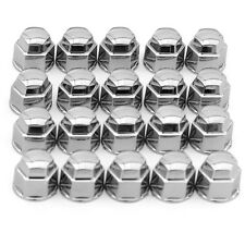 19mm Chrome Lug Nut Covers 20pc Set for Auto Car Wheel Rim Tire Bolt Center Caps