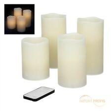 4er Set XXL LED Kerzen mit Fernbedienung Flackerlicht Echtwachs Kerzenset Kerze