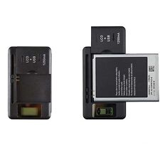 Black Universal LCD Indicator Travel Wall Battery Charger For Cell Mobile Phone