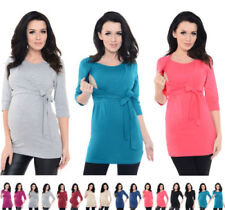 Black Wrap Top Maternity Tops and Shirts