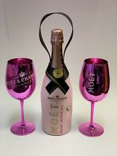 Moet Chandon Valentines Suit Rose Champagner Flasche 0,75l 12%Vol+2 Glas Gläser