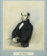Antique 19th century portrait painting of Mr Watkins