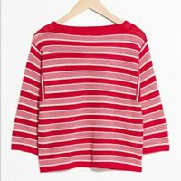 & other stories red striped crochet top. Size 36. Excellent condition.