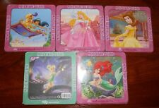 lot 5 mini-livres-puzzles DISNEY clochette aladin ariel belle... - neuf