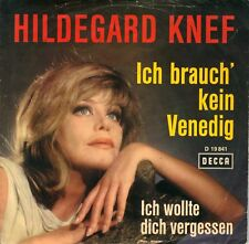 """7"""" Hildegard Knef – Ich brauch' kein Venedig // Germany 1966"""