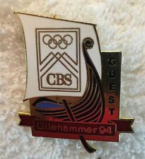 Lillehammer 1994 CBS TV Media Viking Ship GUEST Olympic Pin