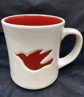 Starbucks Holiday Mug 2008 Red Dove white cup Christmas peace bird coffee tea