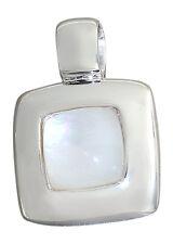 Anhänger Silber 925 - Quadrat mit Perlmutt - Silberanhänger mit Perlmutteinlage