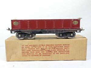 Vintage Lionel Lines 212 Gondola Car Standard Gauge Wine Maroon w/ ORIGINAL BOX
