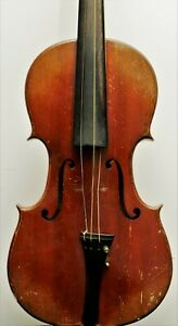 Old Russian Violin label dated Rigart Rubus 1850 ( for restoration )