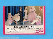 TOP989-PUBBLICITA'/ADVERTISING-1989- MATTEL - IL PIANO BAR SUPERSTAR DI BARBIE