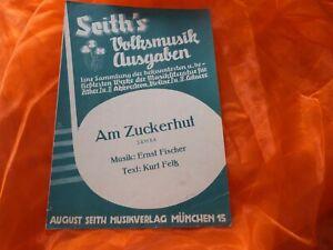 AM ZUCKERHUT Samba Seith's Volksmusik Ausgaben Noten für Zither I