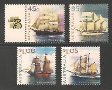 Australia #1729-1732 (A557) VF MNH 1999 - 45c to $1.05 Sailing Ships