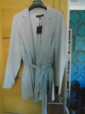 NEW NEXT tailoring pale grey size 22 belted jacket...rp £ 50