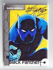 2013 Marvel Fleer Retro Black Panther Sketch Card by Lee Bradley (1/1)