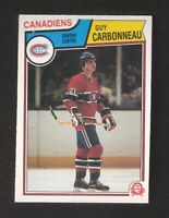 1983-84 OPC O-Pee-Chee GUY CARBONNEAU Rookie #185 NM-MINT Montreal Canadiens