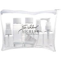 Reiseflaschen: Reise-Reißverschluss-Tasche mit 7 Behältern fürs Flug-Handgepäck