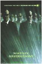 MATRIX REVOLUTIONS MOVIE POSTER MR. SMITH STYLE ORIGINAL 22x34 COMMERCIAL PRINT