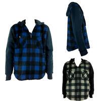 New Adults Men's Warm Fur Lined  Hoodie Zip Up Hooded Jumper Coat Jacket Top