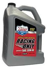 Racing Only 20w50 Oil, Lucas 20w-50 SAE Semi Synthetic, High Perfomance