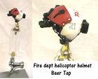 1/6 scale fireman helicopter pilot helmet as beer tap
