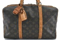 Authentic Louis Vuitton Monogram Sac Souple 35 Hand Boston Bag LV B7608