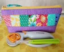 SEWING SUPPLIES TOOLS THREADS ETC. ZIPPER POUCH TULA PINK FABRICS ONE OF A KIND
