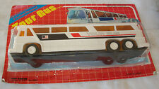 VintaGe 1980'S Kid'S Goods Friction Powered Tour Bus Greyhound New On Card