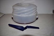 Tupperware Tortentwist Tortenbehälter C167 +Tortenheber Braun /Glitzer  Weihnach