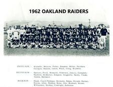 1962 OAKLAND RAIDERS 8X10 TEAM PHOTO FOOTBALL PICTURE AFL