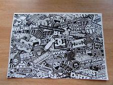 Sticker Bomb sheet 3a - Black + White / Greyscale - A4 size