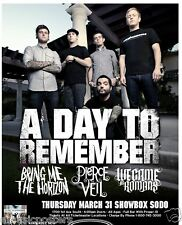 A DAY TO REMEMBER 2001 PORTLAND CONCERT TOUR POSTER