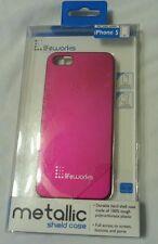 Lifeworks Metallic Shield Protective Case iPhone 5 Pink Fushia New