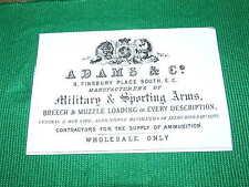 ADAMS & CO GUNMAKERS GUN CASE LABEL Accessories Gun Maker