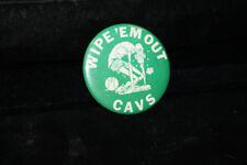 Cool Vintage Wipe 'Em Out Cavs High School Basketball Sports Pinback Cleveland