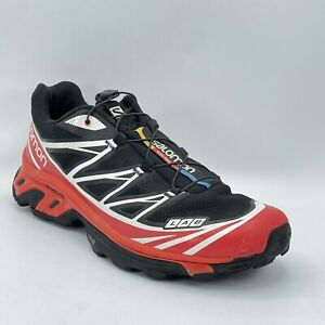 Salomon Mens S-Lab XT 6 Red Advanced Trail Running Softground Shoes Size 10