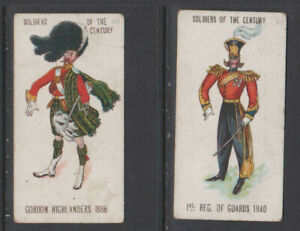 CIGARETTE CARDS Hudden 1903 Soldiers of the Century - (2 cards) 30,50