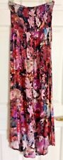 Long dress JEANS BY BUFFALO MULTICOLOR STRAPPLES SZ M 100% rayon