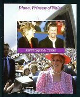 Chad 2016 MNH Diana Princess of Wales George Michael 1v M/S I Royalty Stamps