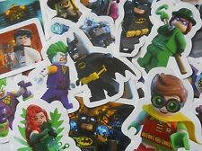 10 Packs of Lego Batman Movie Mini Figure Stickers Childrens Party Bag Fillers