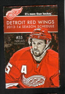 Detroit Red Wings--Niklas Kronwall--2013-14 Pocket Schedule--Fox Sports Detroit