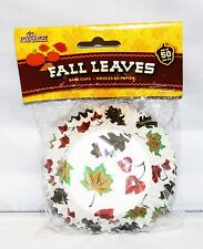 FALL LEAVES BIRTHDAY SCHOOL OFFICE PARTY BAKERY CUPCAKE  BAKING CUPS 50 CT.