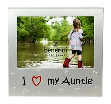I Love My Auntie Photo Picture Frame Gift 5 X 3.5 Inch (brushed Aluminium Satin Silver Colour)
