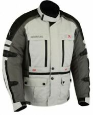 Motorcycle jacket with CE Armour, men's motorcycle textile jacket grey