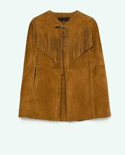 Zara Leather Casual Hip Coats & Jackets for Women