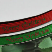 "5Y 3/8"" U pick grosgrain ribbon Merry Christmas Gift Wedding Craft Appliques"