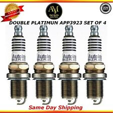 Double Platinum Spark Plug APP3923 Set of 4 For 07/15 Audi Volkswagen Lexus 4.2L