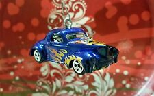 1941 WILLYS HOT ROD CAR ~ FLAMED~ SCOOP~ Custom Christmas Ornament Decoration