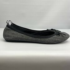 GAP WOMEN'S FLAT SLIP- On SHOES Gray With Black Ribbon Size 7